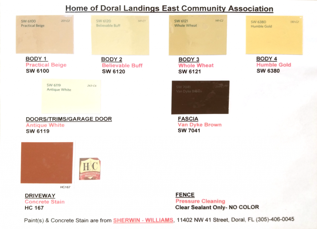 Association Approval Colors
