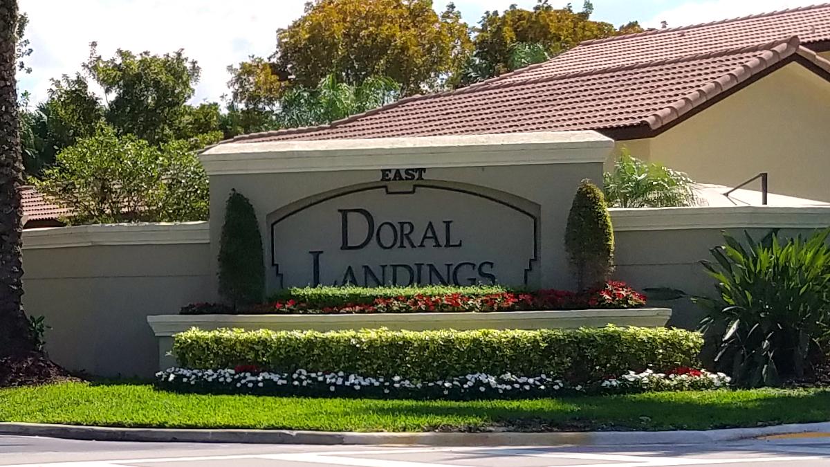 Landscaped Community Sign