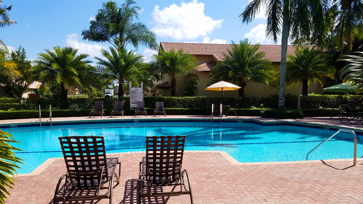 Community Pool Area For Residents to Relax and Socialize