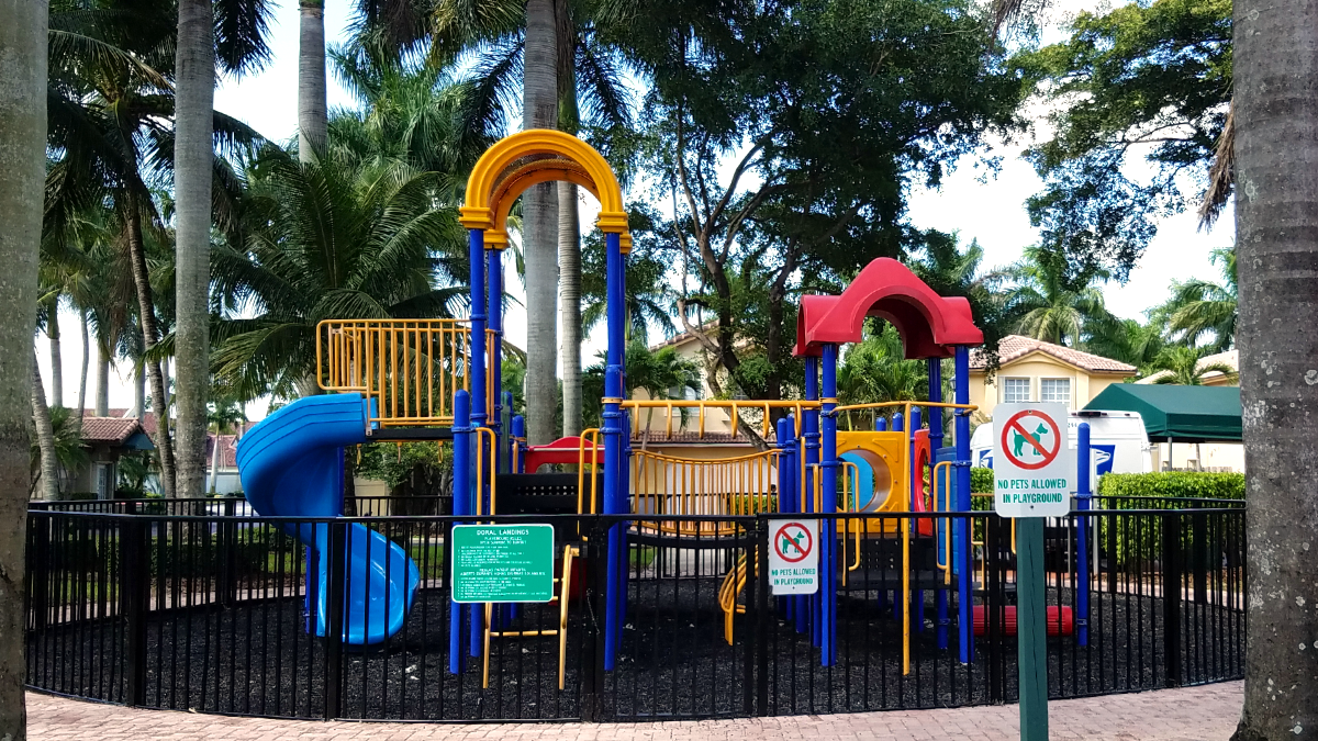 Kids Playground with Rubberized Gravel for Safety
