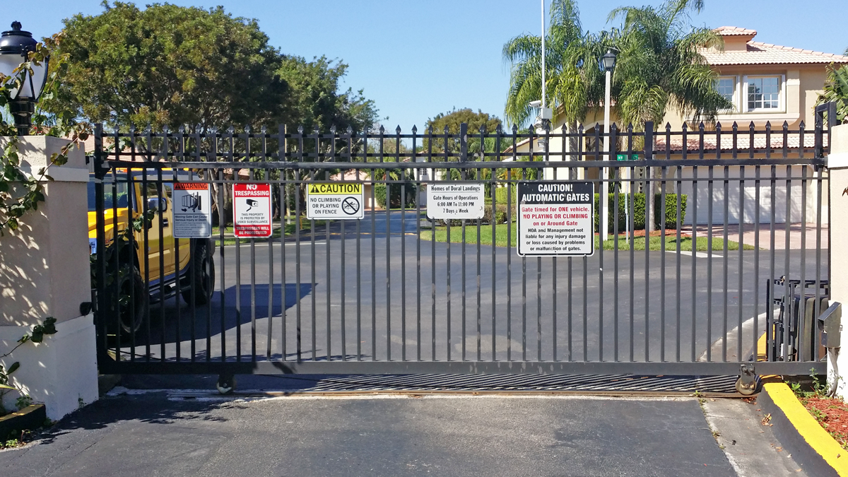 Security Gate at the Back Entrance for Residents Only