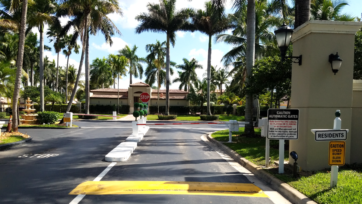 View of Pool Area Entrance from the Front Gate